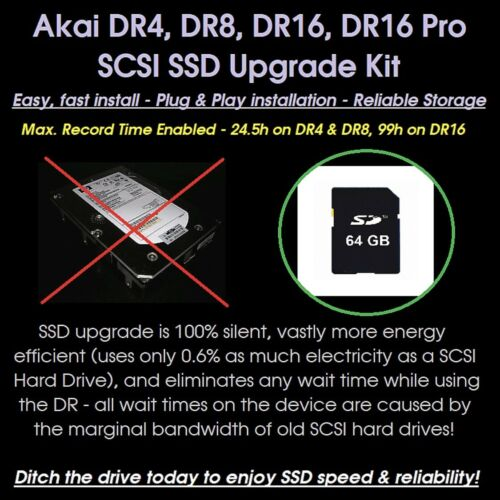 DR16 Pro Hard Drive Recorder SSD Upgrade Kit for AKAI DR4 DR8 DR16 SD 2020