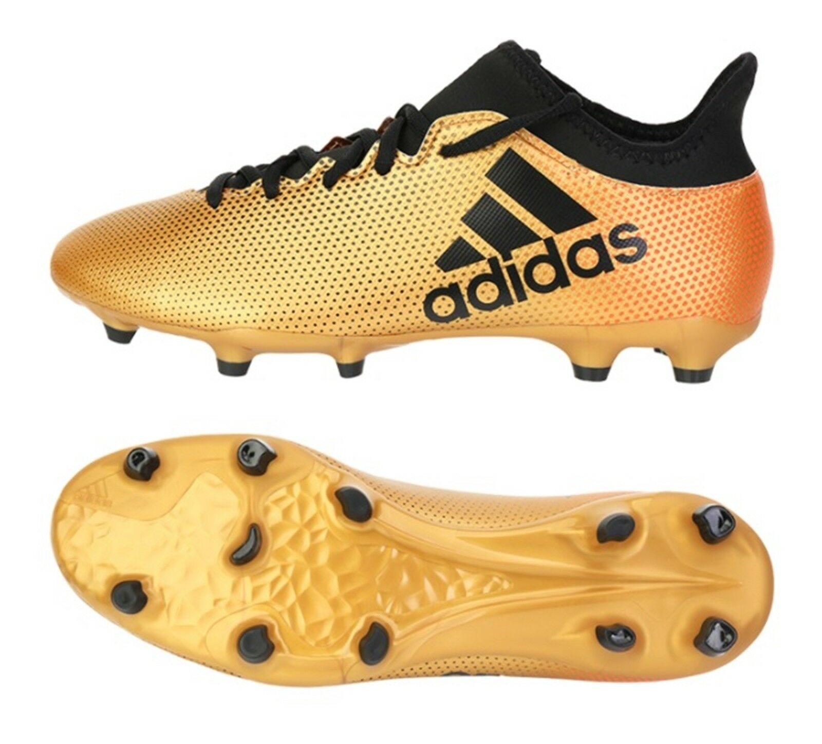 Adidas Men X 17.3 FG Tech-Fit Cleats Soccer gold Football GYM shoes Spike CP9190