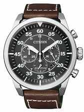 Citizen Eco-Drive Solar Powered Leather Strap Watch