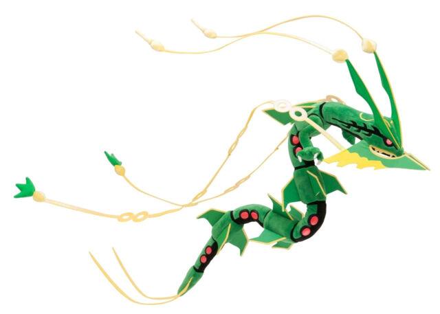Pokemon Center Plush Toy Mega Rayquaza Green Doll Cool Gift