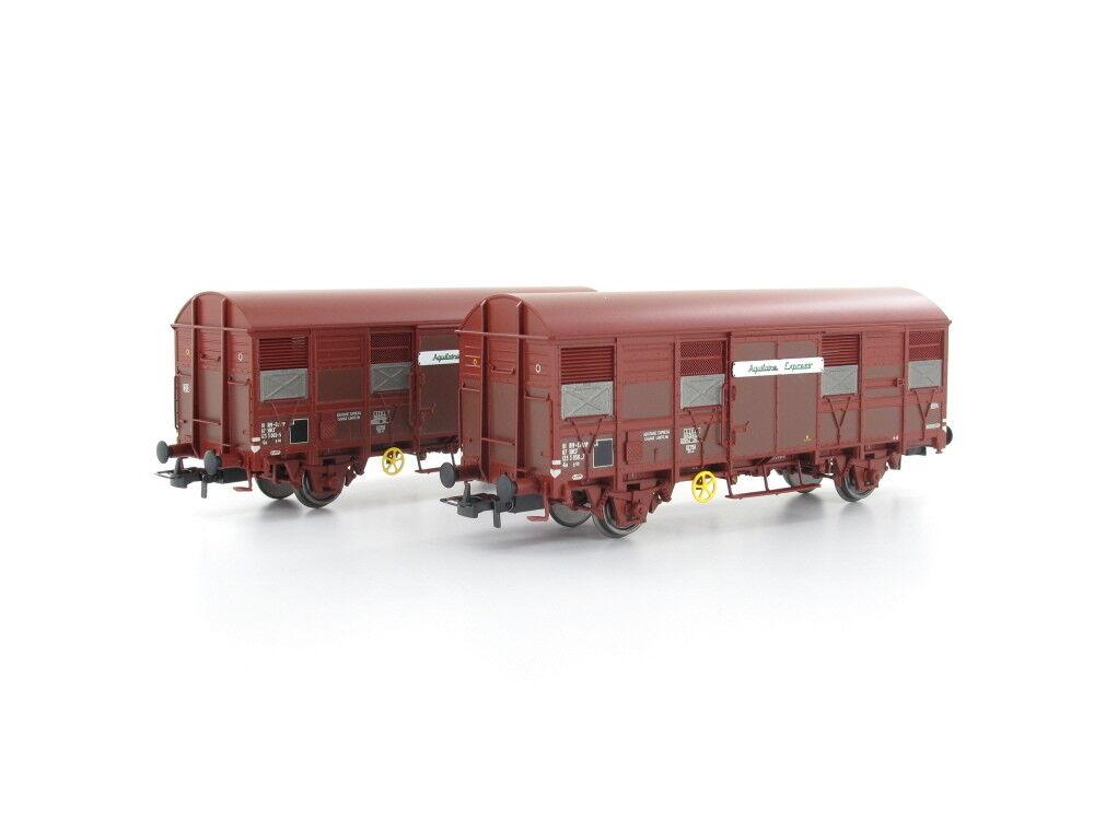 Jouef HJ6166 Güterwagenset Gs 4.02 Aquitaine Express SNCF 2x H0
