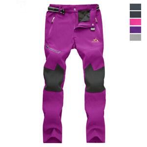 Women-Winter-Snow-Pants-Fleece-Lined-Soft-Shell-Waterproof-Outdoor-Ski-Trousers