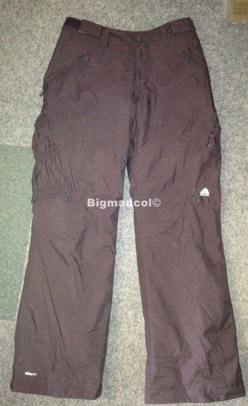 Nike ACG Ski Snowboarding Ladies Salopettes Brown Large 14 16  NEW