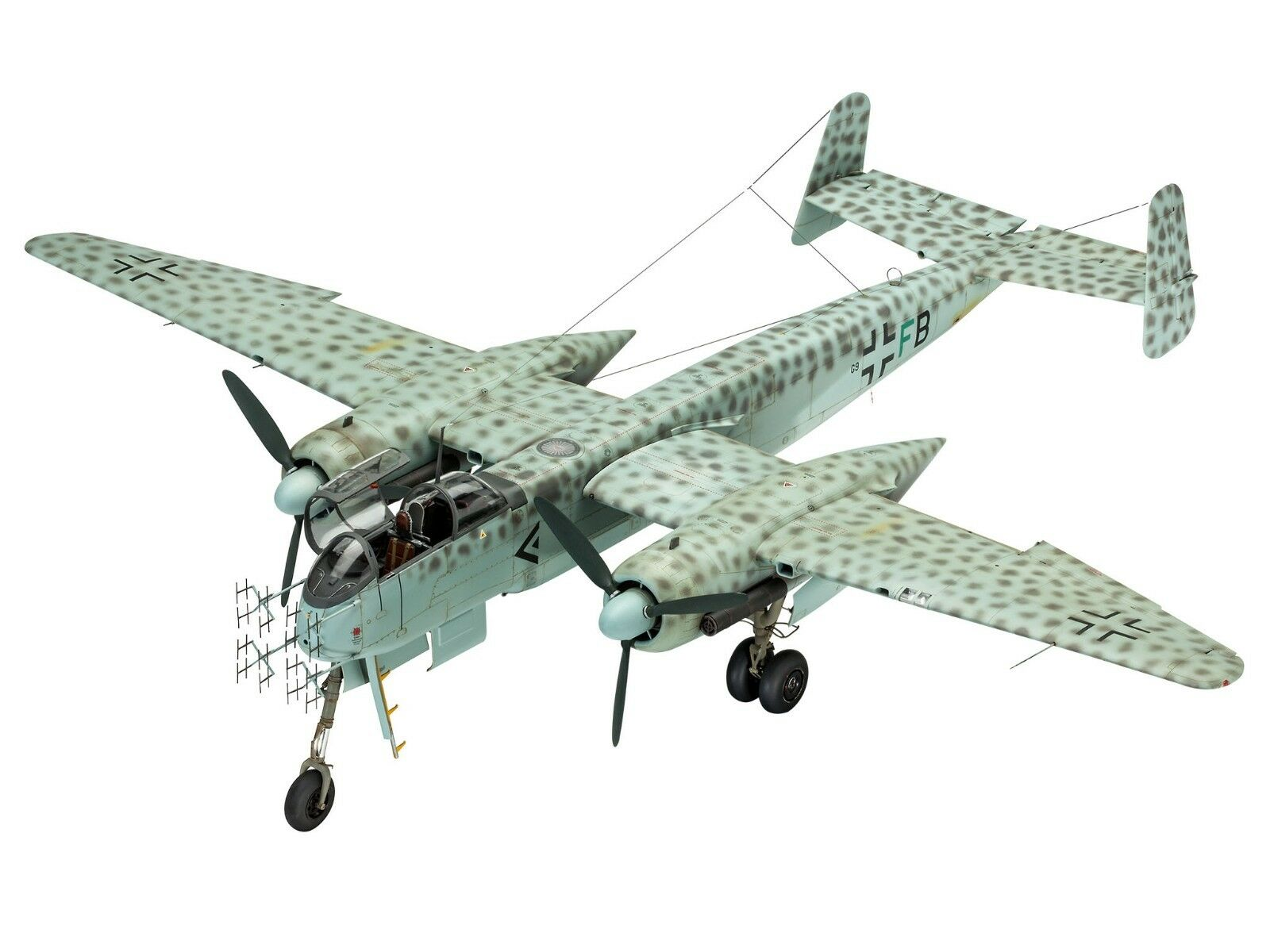 Revell 03928 Heinkel He219  A-0 A-2 Nightfighter Plastic Kit 1 32 Scale T48 Post