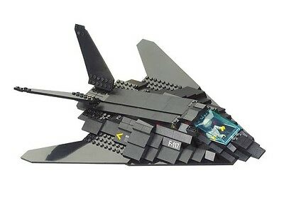 F117 BOMBER 209 pcs Army Plane Airport Military compatible construction bricks