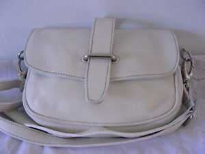 793631d35d Image is loading Fab-Roots-Canada-White-Leather-Shoulder-Bag-Purse