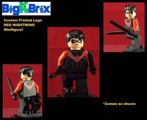 RED NIGHTWING Hero Batman DC Custom Printed LEGO Minifigure NO DECALS USED!