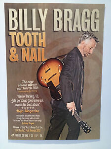 BILLY-BRAGG-Tooth-Nail-Album-Promo-Poster-A2-WILCO-Mermaid-Avenue-BLOKES-NEW