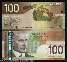 CANADA 100 DOLLARS P105 2004 2006 BORDEN SATELLITE BOAT MAP UNC MONEY BANK NOTE
