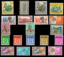 BELGIUM CONGO-20 Different Mint Thematic Stamps-Pre 1965 Issues