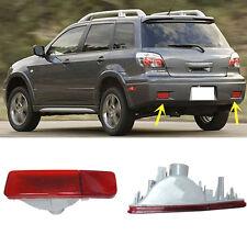 For Mitsubishi Outlander 2003-2006 LensRear Bumper Reflector Tail Fog Warn Light