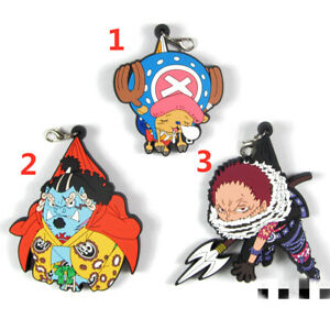 Anime-ONE-PIECE-rubber-Keychain-Key-Ring-Race-Straps-cosplay