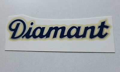 Aufkleber Automobilia Diamant Schriftzug Wasserabziehbild Abziehbild 67930d 102x23 Mm Blau/rand Silber Geschickte Herstellung