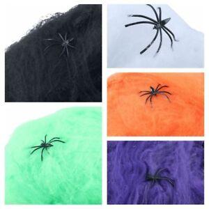 La-Terreur-Decor-De-Scene-Accessoires-Decoratifs-Halloween-Coton-Araignee