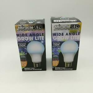2x MIRACLE LED 605234 Blue Spectrum Wide Angle Multi Plant LED Grow Light
