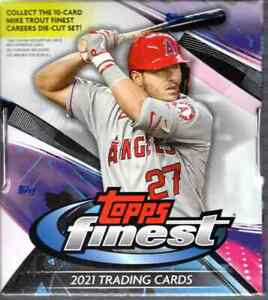 2021 Topps Finest Baseball Factory Sealed Hobby Box With 2 Autos