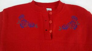 Vintage-Pendleton-Womens-Red-100-Virgin-Wool-Sweater-Knit-Size-Small-USA