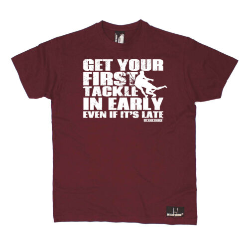 Rugby T-Shirt Drôle Nouveauté Homme tee tshirt-Obtenez votre premier Tackle