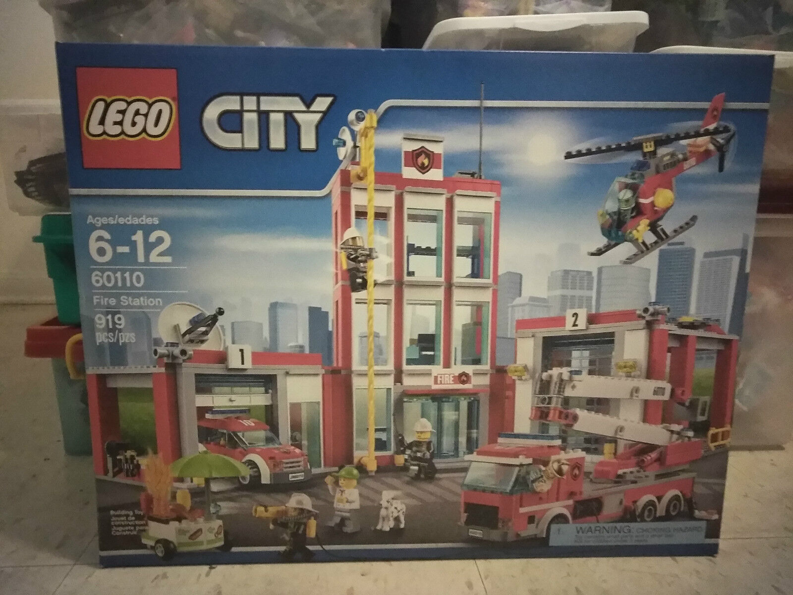 LEGO City Fire Station (60110) NEW SEALED RARE DISCONTINUED RETIrosso OOP VHTF