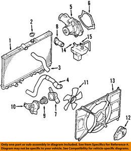 Upper Mitsubishi Galant Radiator Coolant Hose Gates MR312253