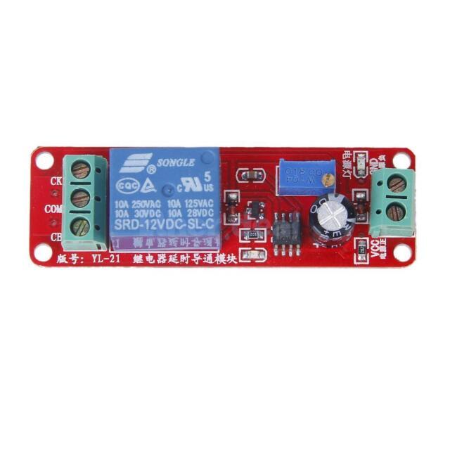Adjustable 0-10 Seconds Timer Delay Module Switch NE555 Oscillator DC 12V