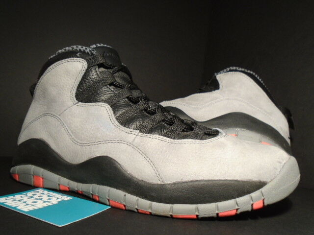 Nike air jordan x 10 10 10 retro - cool grau - schwarz - rot 310805-023 sz 10,5 bef32f