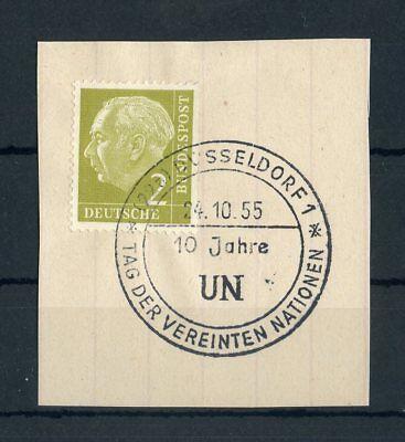 """Sst """"dÜsseldorf 24.10.1955-10 Jahre Un"""" !!! 131123 Bund Nr.177 Bfs"""