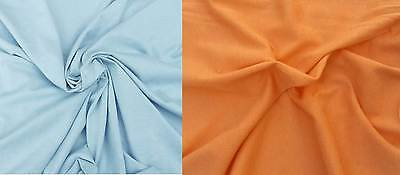 Cotton Fabric Jersey Knit Eco-Friendly by the Yard Blue or Orange
