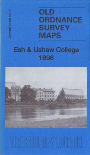 OLD ORDNANCE SURVEY MAP ESH /& USHAW COLLEGE 1896 LANGLEY PARK HOSPITAL BOARD INN