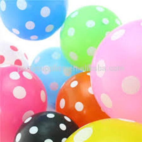 """10 lunares puntos irregulares 12/"""" Globos de Látex Decoración Fiesta Cumpleaños Infantil"""