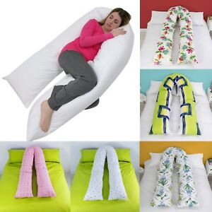 9-Ft-12-Ft-Comfort-Printed-U-Pillow-Case-Full-Body-Maternity-Pregnancy-Support