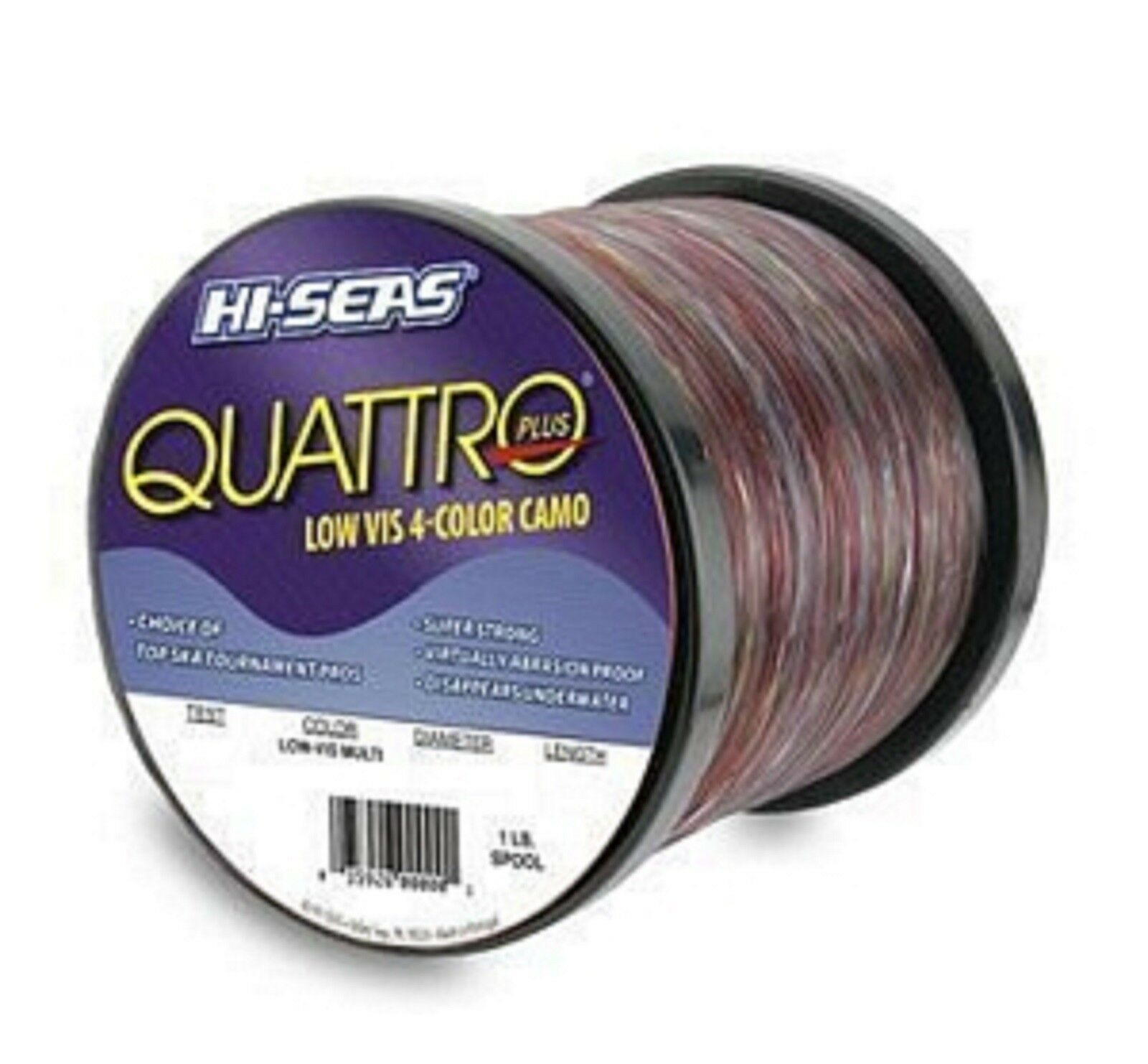 Hi-Seas Quattro Camo Monofilament (50 LB Test) (1 LB  Spool)  wholesale cheap and high quality