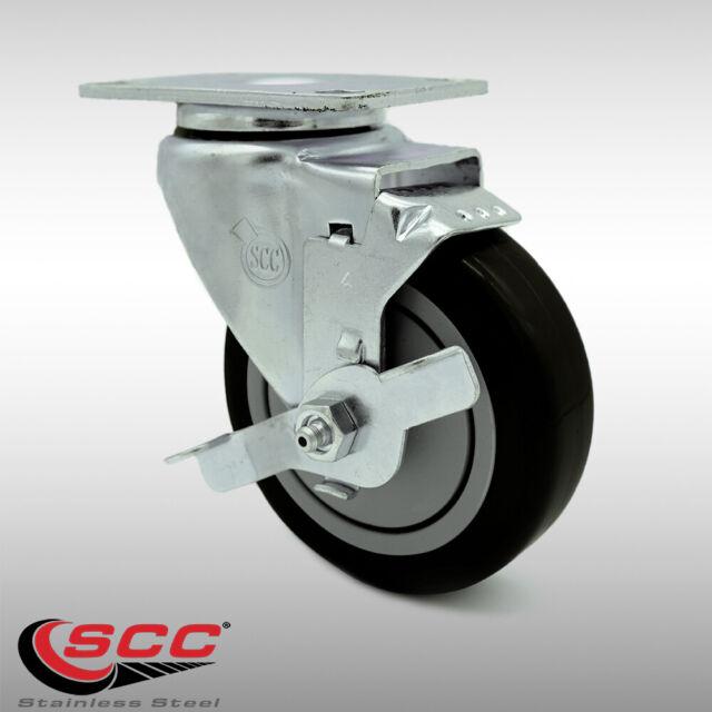 "4pcs//set 1.5/"" furniture swivel casters//wheel w// socket /& brake chair replacement"