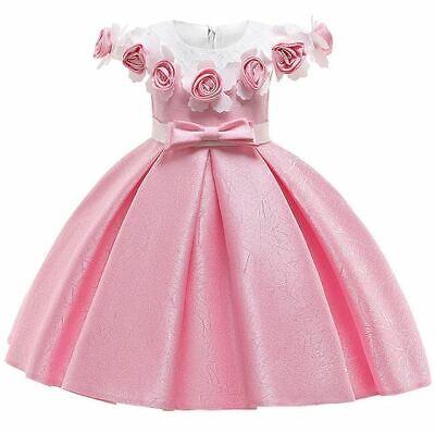 Vestidos Para Niñas Flor Nuevo Ropa De Moda Vestido De Princesa De Fiesta Mejor Ebay