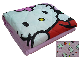 Copriletto Trapuntato Hello Kitty.Dettagli Su Copriletto Trapuntato Quilt Trapuntino Hello Kitty Frutta Novia Singolo 1 Piazza