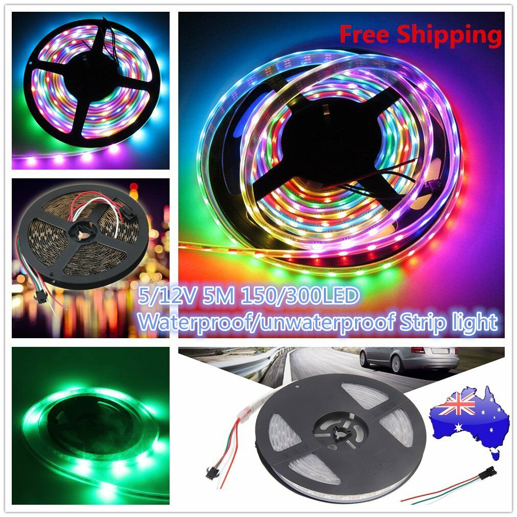 WS2812B LED Streifen 5m WS2811 RGB Licht SMD 5050 Individuell Adressierbar 5V TR