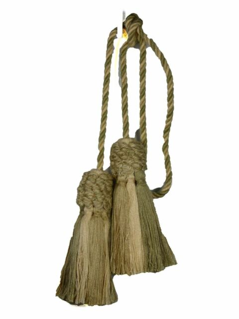 """Conso Trims Empress Collection Style 21955 Solid Chair Tie 4/"""" Tassels 27/"""" Spread"""