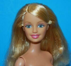 BARBIE-GOLDEN-Blonde-SIDE-PART-HAIR-NUDE-Doll-Belly-Button-Body-SWEET-BEAUTY