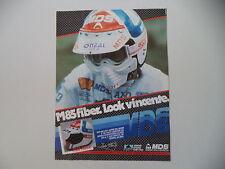 advertising Pubblicità 1985 CASCO MDS M83 e ANDRE' MALHERBE
