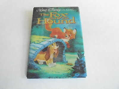 VINTAGE PROMO PINBACK BUTTON #90-222 - DISNEY - THE FOX AND THE HOUND