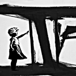 Hommage Banksy follow U Dreams 120x120 cm arcylglas 5 mm POPART//Street Art//Loft