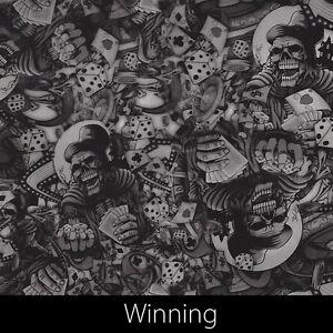Winning Skulls gambling graphic Hydrographic Film dip stick hydro