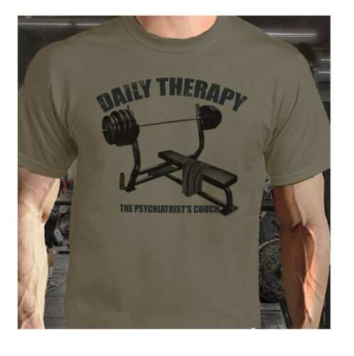 BENCH THERAPY Powerlifting Bodybuilding Workout Putty Colour Tee shirt