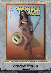 Wonder Woman Gal Gadot Pin-Up Sexy Cover Girls A3 Signed DC Comic Art Print