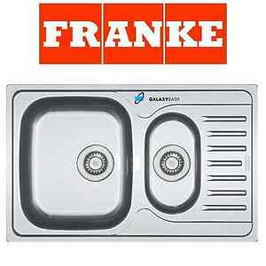 FRANKE POLAR DOUBLE 1.5 BOWL DRAINER & WASTE STAINLESS STEEL SQUARE ...
