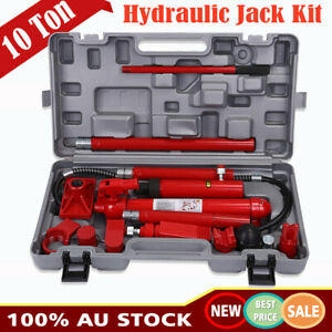 10 Ton Porta Power Kit Hydraulic Panel Beating Car Body Dent Frame Repair Tool Ebay
