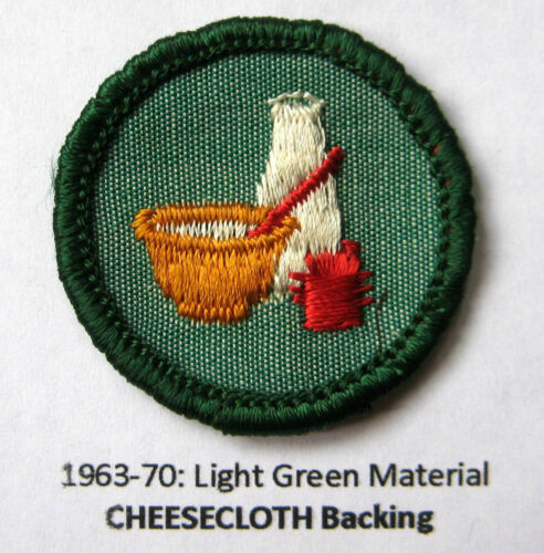 Vintage Girl Scout 1963-80 Junior COOK BADGE Foods Chef Patch CHOOSE Fabric//Year