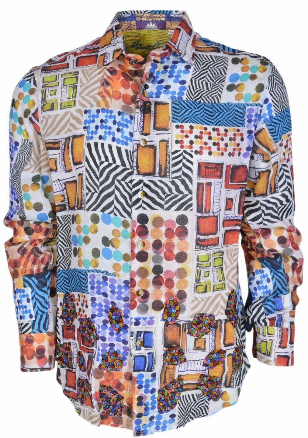 Robert Graham Wild Desert Limited Edition Classic Fit Embroidered Print Sport L