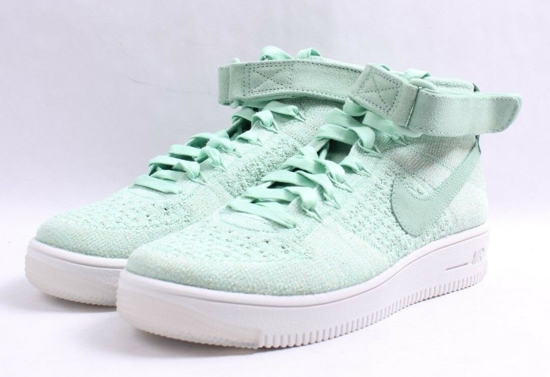 Nike W AF1 Flyknit Enamel Air Force 1 Green & White Women SZ 6 - 10