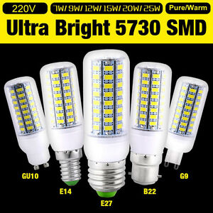 1-4-10x-Bright-E27-E14-G9-B22-Bayonet-5730-SMD-LED-Corn-Light-Spot-Bulb-220-240V